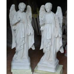 LS 41A Coppia angeli con palma h. cm. 112