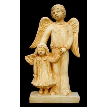 LS 143 Bimbo e bimba angeli h. cm. 48