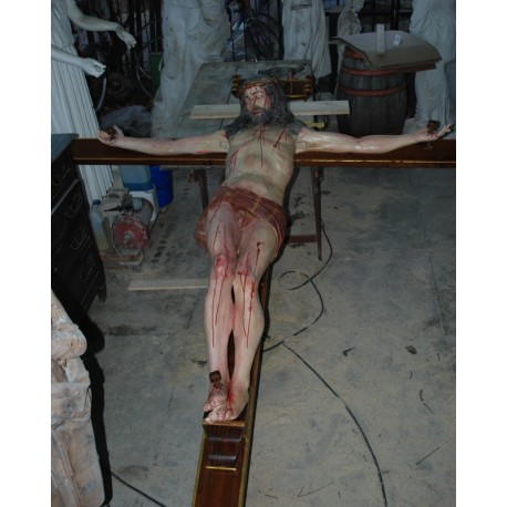 LS 194 Cristo Crocifisso con le braccia aperte h. cm. 190