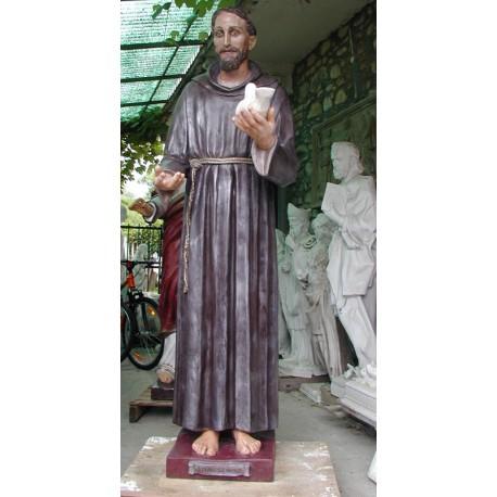 LS 170 San Francesco d'Assisi con colombo h. cm. 180