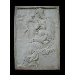 LR 53 Madonna della scala - Michelangelo h. cm. 59x42