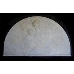 LR 56 Lunetta Madonna del Rossellino h. cm. 80x139