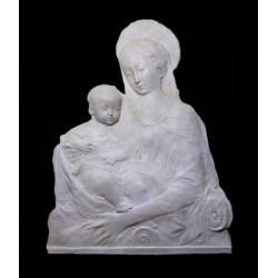LR 61 Madonna del Rossellino scontornata h. cm. 79x59