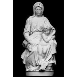 RID 34A Statua Madonna di Bruges di Michelangelo h. cm. 60