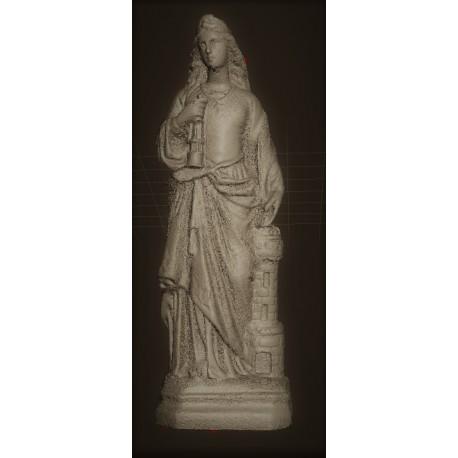 RID 92 Statua di Santa Barbara h. cm. 40
