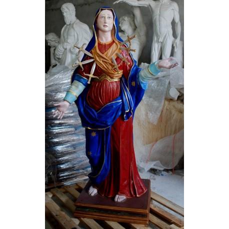 LS 292 Madonna dei sette dolori h. cm. 162